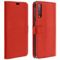 Funda libro billetera para Samsung Galaxy A7 2018 - Roja