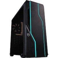 Hiditec V10 RGB Torre Negro carcasa de ordenador