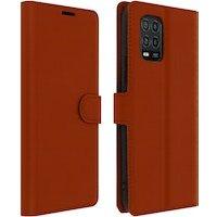 Funda Xiaomi Mi 10 Lite Libro Cartera F. Soporte Protección Integral - Marrón
