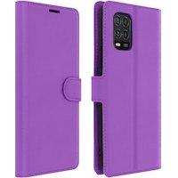 Funda Xiaomi Mi 10 Lite Libro Cartera F. Soporte Protección Integral - Violeta