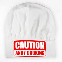 Personalised Caution Chefs Hat - Clothes Gifts