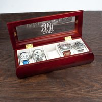 Personalised Wooden Watch Case - Prezzybox Gifts