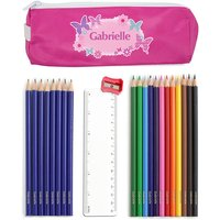 Personalised Butterfly Pencil Case Set - Personalised Gifts Gifts