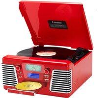 Steepletone 1960's Roxy 4 BT Retro Music System - Red - Music Gifts