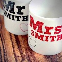 Personalised Mr and Mrs Mug Set - Mug Gifts