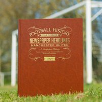 Personalised Football Team History Book - Football Gifts