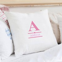 Personalised Initial Cushion Cover - Pink - Pink Gifts