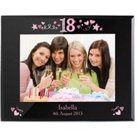 Personalised 18th Birthday Glass Photo Frame