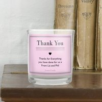 Personalised Classic Pink Scented Jar Candle - Pink Gifts