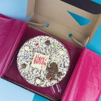 Happy Birthday Chocolate Pizza - For Him - Chocolate Gifts