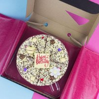 Happy Birthday Chocolate Pizza - For Her - Chocolate Gifts