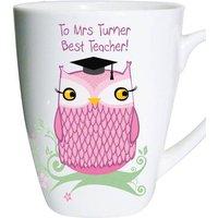Personalised Miss Owl Teacher Latte Mug - Owl Gifts