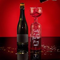 Wine Bottle Glass - Alcohol Gifts