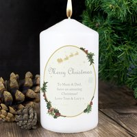 Personalised Traditional Christmas Candle - Prezzybox Gifts
