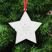 Personalised Star Tree Decoration - Prezzybox Gifts
