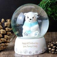 Personalised Polar Bear Snow Globe - Prezzybox Gifts