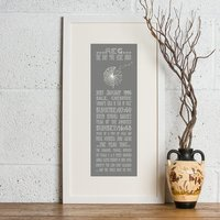 21st Birthday 'The Day You Were Born' Personalised Print - Prezzybox Gifts