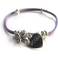Personalised Suede Butterfly Bracelet - Butterfly Gifts