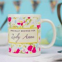Personalised Floral Mug - Mug Gifts