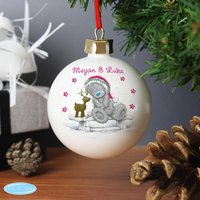 Personalised Me To You Reindeer Bauble - Christmas Gifts