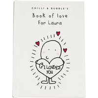 Chilli & Bubble's Personalised Book of Love - For Her - Book Gifts