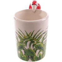 Parrot Shaped Handle Mug - Parrot Gifts