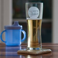 Daddy's Juice Beer Glass - Prezzybox Gifts