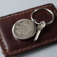Silver Bestest Daddy Ever Keyring - Seek Gifts