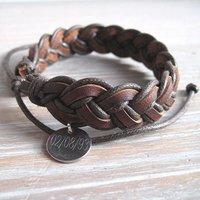 Personalised Plaited Leather Bracelet - Prezzybox Gifts