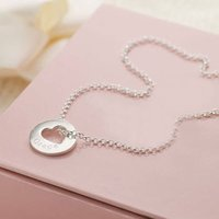 Personalised Hope Open Heart Necklace - Personalised Gifts Gifts