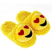 Fuzzy Friends Heart Eyes Emoji Slippers - Friends Gifts