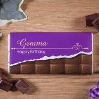 Personalised Birthday Milk Chocolate - Chocolate Gifts