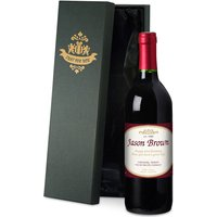 Personalised Bottle of Red Wine in Silk Lined Gift Box - Alcohol Gifts
