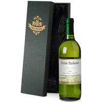 Personalised Bottle of White Wine in Silk Lined Gift Box - Alcohol Gifts
