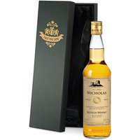 Personalised Malt Whisky and Silk Lined Gift Box - Alcohol Gifts