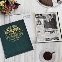 Personalised Newspaper Book - Birthday Edition - Prezzybox Gifts