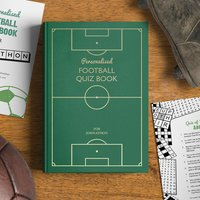 Personalised Football Quiz Book - Football Gifts