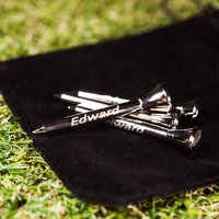 Personalised Golf Tees - Pack of 4 - Golf Gifts