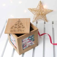 Personalised Photo Cube with Festive Treats - Christmas Gifts