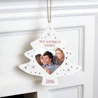 Personalised Christmas Tree Photo Decoration - Prezzybox Gifts