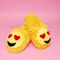 Fuzzy Friends Heart Eyes Emoji Slippers - Friends Gifts