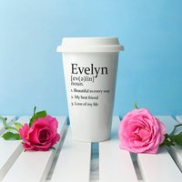 Personalised Definition Ceramic Travel Mug - Personalised Gifts Gifts