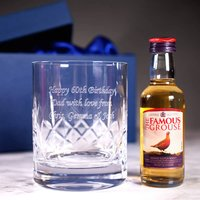 Personalised Crystal Glass & Whisky Gift Set - Seek Gifts