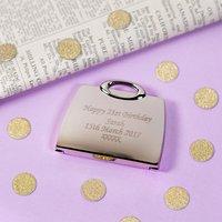 Personalised Handbag Compact Mirror - Prezzybox Gifts