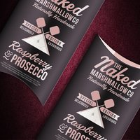 Raspberry & Prosecco Marshmallows - Novelty Gifts