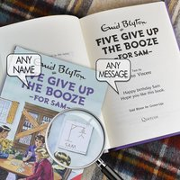 Personalised Five Give Up Booze - Novelty Gifts