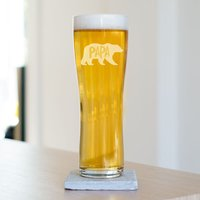 Papa Bear Beer Glass - Beer Glass Gifts