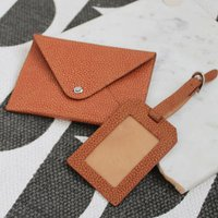 Personalised Leather Passport Holder and Luggage Tag - Passport Gifts