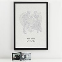 Personalised First Dance Lyrics Print - Dance Gifts