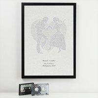 Personalised First Dance Lyrics Print - Dance Gifts